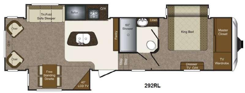Floorplan - 2014 Keystone RV Laredo 292RL
