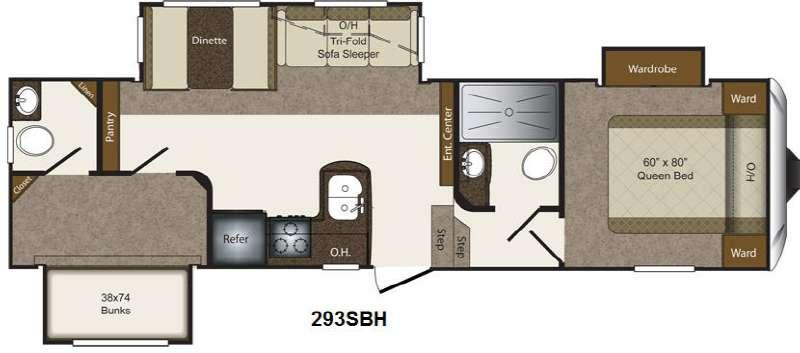 Floorplan - 2014 Keystone RV Laredo Super Lite 293SBH