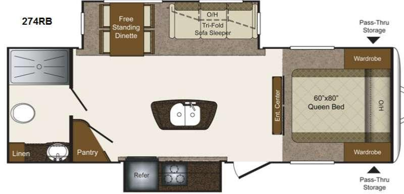 Floorplan - 2014 Keystone RV Laredo Super Lite 274RB