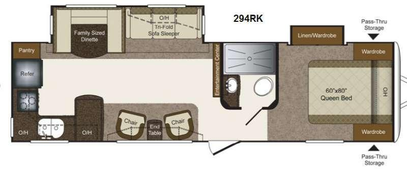 Floorplan - 2014 Keystone RV Laredo Super Lite 294RK