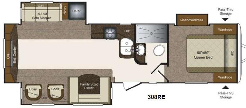 Floorplan - 2014 Keystone RV Laredo Super Lite 308RE