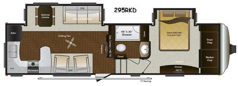 Floorplan - 2014 Keystone RV Mountaineer 295RKD