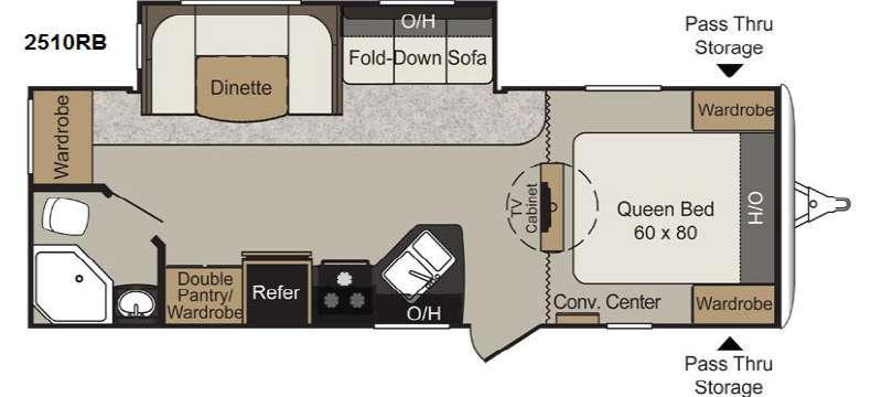 Floorplan - 2014 Keystone RV Passport 2510RB Grand Touring
