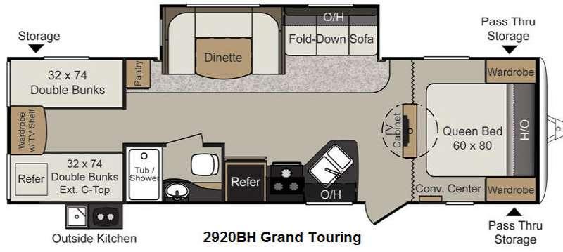 Floorplan - 2014 Keystone RV Passport 2920BH Grand Touring