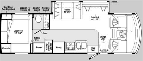 Floorplan - 2007 Itasca Sunova 30 B