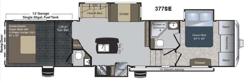 Floorplan - 2014 Keystone RV Raptor 377SE