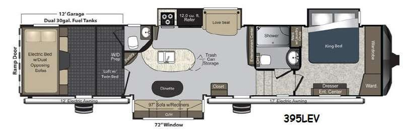 Floorplan - 2014 Keystone RV Raptor 395LEV