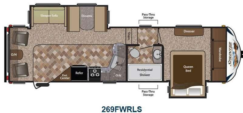 Floorplan - 2014 Keystone RV Sprinter Copper Canyon 269FWRLS