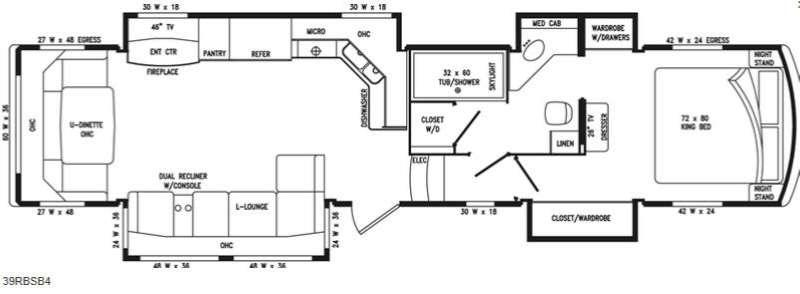 Floorplan - 2014 Mobile Suites Estates 39RBSB4 Fifth Wheel