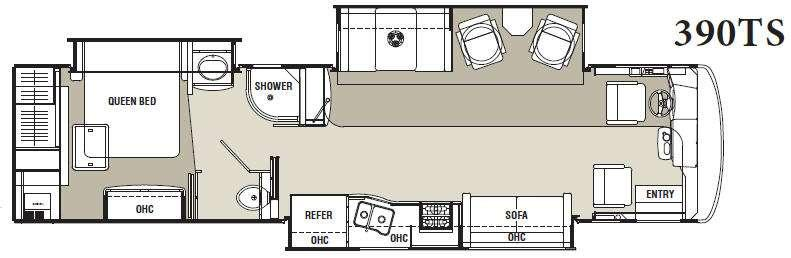 Sportscoach Cross Country 390TS Floorplan Image