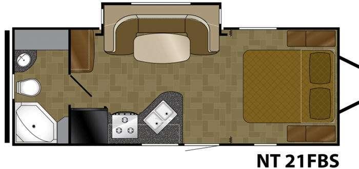 Floorplan - 2014 Heartland North Trail 21FBS