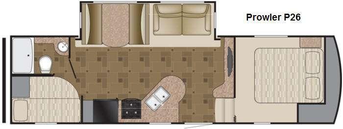 Floorplan - 2014 Heartland Prowler P26
