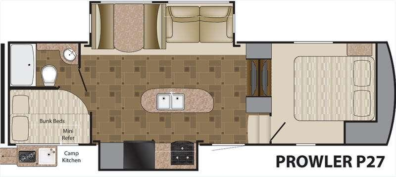 Floorplan - 2014 Heartland Prowler P27