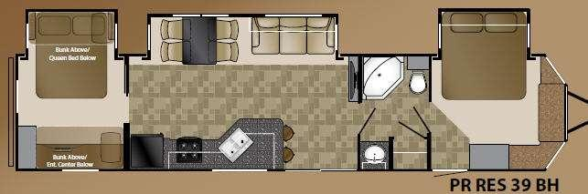 Floorplan - 2014 Prowler 39BH Resort Park Models