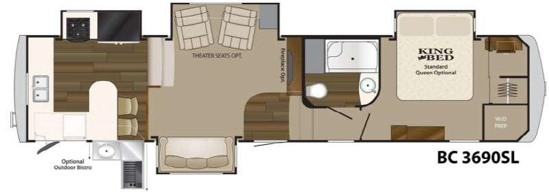 Floorplan - 2014 Big Country 3690 SL Fifth Wheel