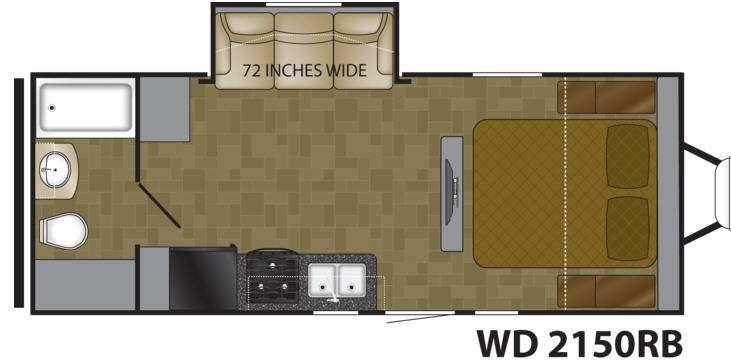 Floorplan - 2014 Heartland Wilderness 2150RB