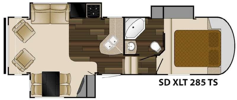 Floorplan - 2014 Heartland Sundance XLT 285TS
