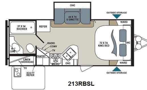 Floorplan - 2014 Dutchmen RV Aerolite 213RBSL