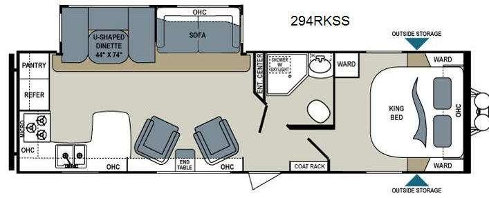 Floorplan - 2014 Dutchmen RV Aerolite 294RKSS