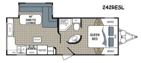 Floorplan - 2014 Dutchmen RV Kodiak 242RESL