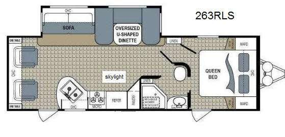 Floorplan - 2014 Dutchmen RV Kodiak 263RLSL