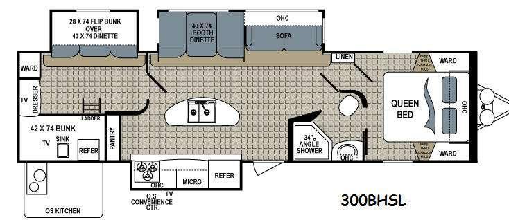 Floorplan - 2014 Dutchmen RV Kodiak 300BHSL