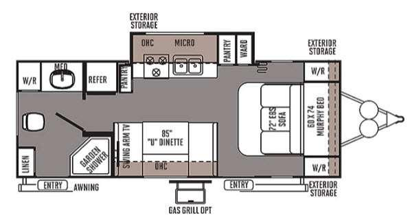Floorplan - 2014 Forest River RV Flagstaff Micro Lite 25KS