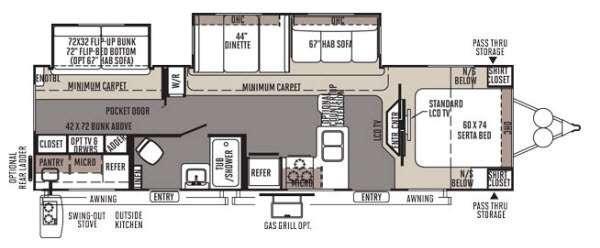 Floorplan - 2014 Forest River RV Rockwood Signature Ultra Lite 8312SS