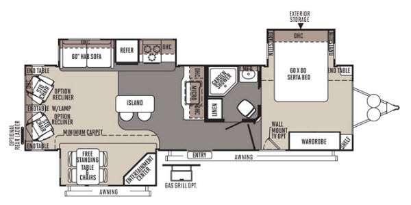 Floorplan - 2014 Forest River RV Rockwood Signature Ultra Lite 8329SS