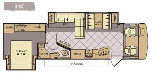 Floorplan - 2014 Fleetwood RV Bounder 33C