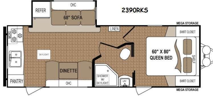 Floorplan - 2014 Dutchmen RV Aspen Trail 2390RKS