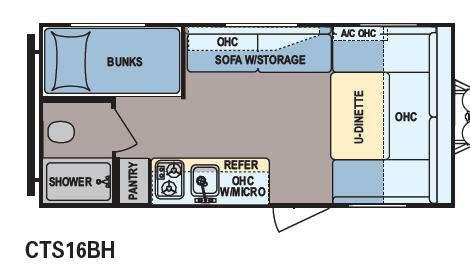 Floorplan - 2014 Dutchmen RV Coleman Expedition CTS16BH LT