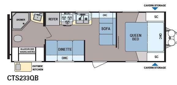 Floorplan - 2014 Dutchmen RV Coleman Expedition CTS233QB