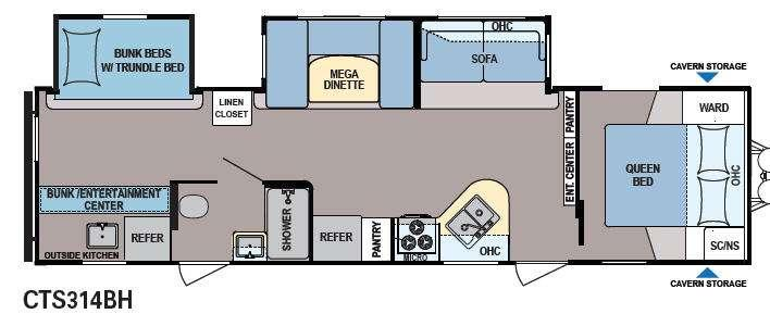 Floorplan - 2014 Dutchmen RV Coleman Expedition CTS314BH