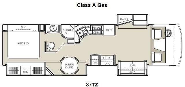 Floorplan - 2014 Coachmen RV Encounter 37TZ