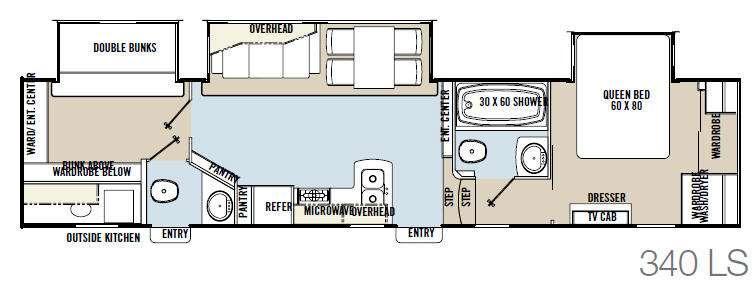 Floorplan - 2014 Coachmen RV Brookstone 340LS