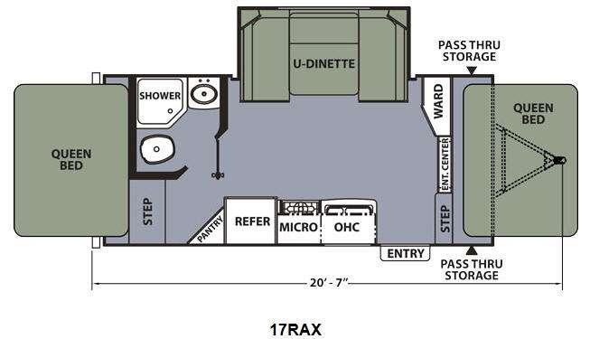 Floorplan - 2014 Coachmen RV Apex Ultra-Lite 17RAX