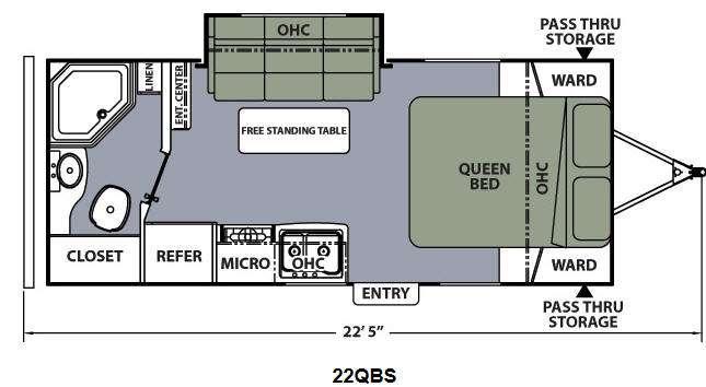 Floorplan - 2014 Coachmen RV Apex Ultra-Lite 22QBS