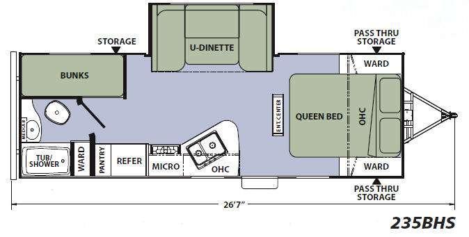 Floorplan - 2014 Coachmen RV Apex Ultra-Lite 235BHS