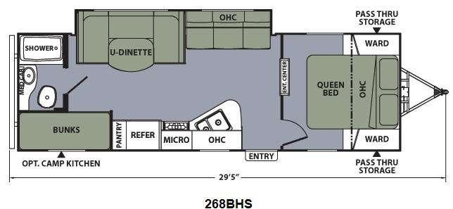 Floorplan - 2014 Coachmen RV Apex Ultra-Lite 268BHS