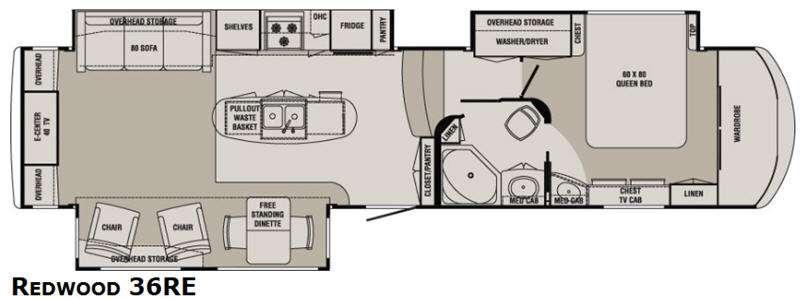 Floorplan - 2014 Redwood RV Redwood 36RE