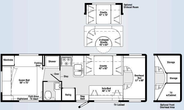 Floorplan - 2007 Winnebago Access 29T