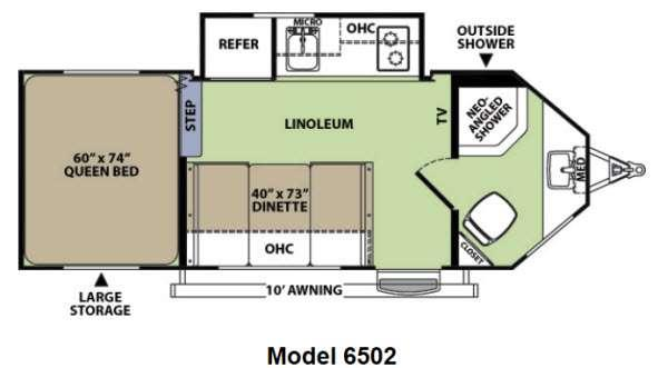 Floorplan - 2014 Forest River RV V-Cross Vibe 6502