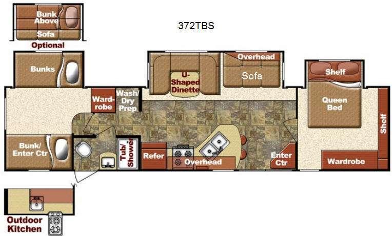 Floorplan - 2014 Kingsport 372 TBS Destination Trailer