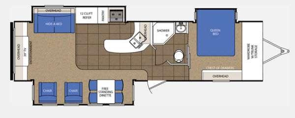 Floorplan - 2014 Prime Time Manufacturing LaCrosse 327RES