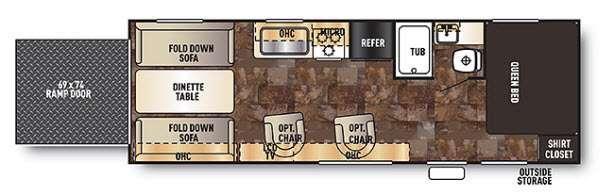 Floorplan - 2014 Forest River RV Cherokee Grey Wolf 25RR