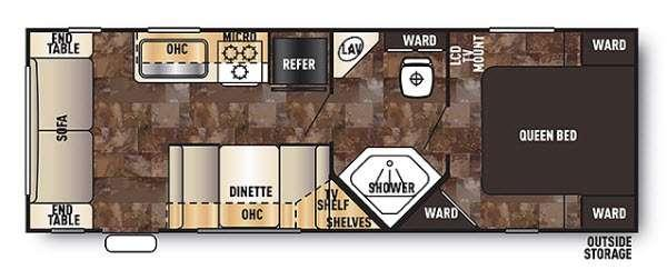 Cherokee Grey Wolf 25RL Floorplan