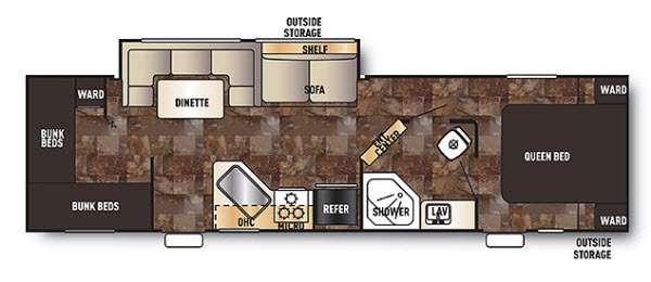 Floorplan - 2014 Forest River RV Cherokee Grey Wolf 29VT