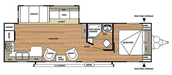 Floorplan - 2014 Forest River RV Salem 27RKSS