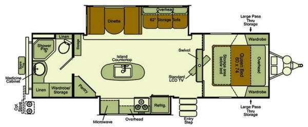 Floorplan - 2014 EverGreen RV Sun Valley S29KIS
